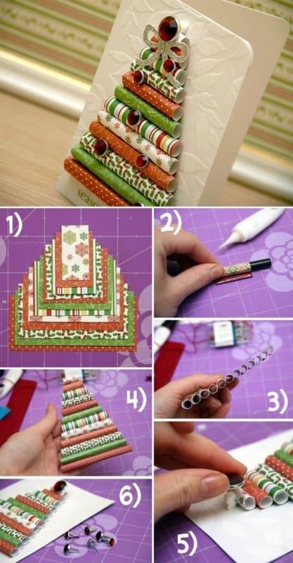 como fazer cartão de natal simples