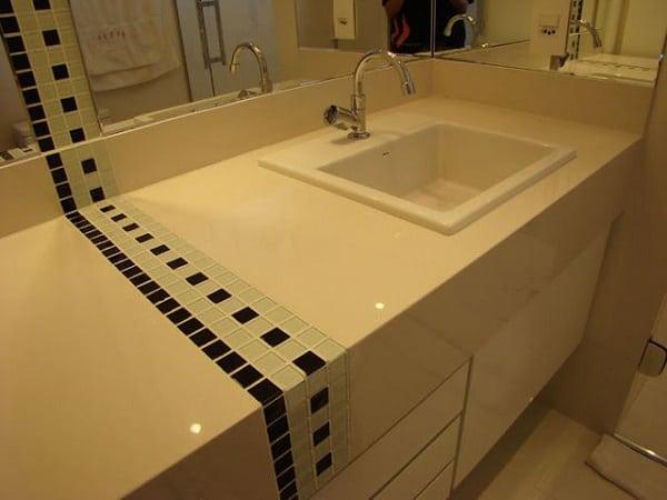 pia branca para banheiro