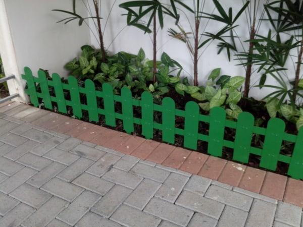 cerca decorativa para jardim