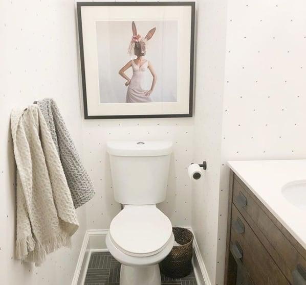 lavabo decorado simples