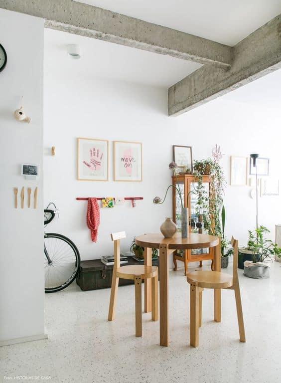 piso polido de granilite na decoração