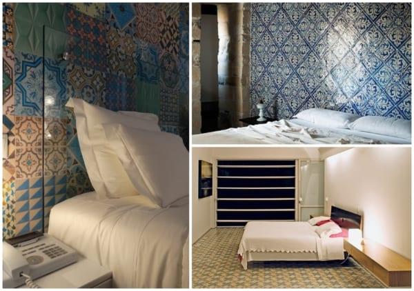 Cerâmica estampada para quartos