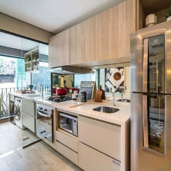 Cozinha linda e elegante com tom pérola