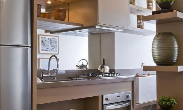 Detalhes em cor pérola na cozinha