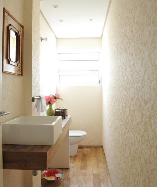 Ideia para decorar lavabo com a cor pérola
