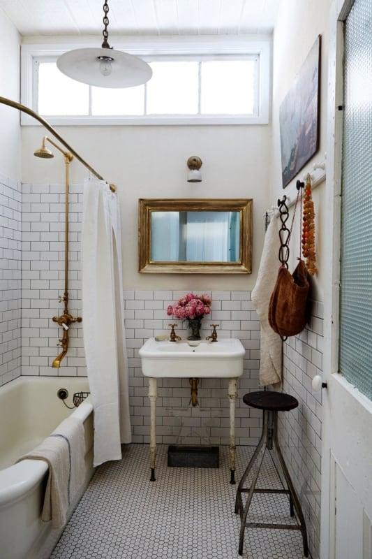 Lustre para lavabo retrô