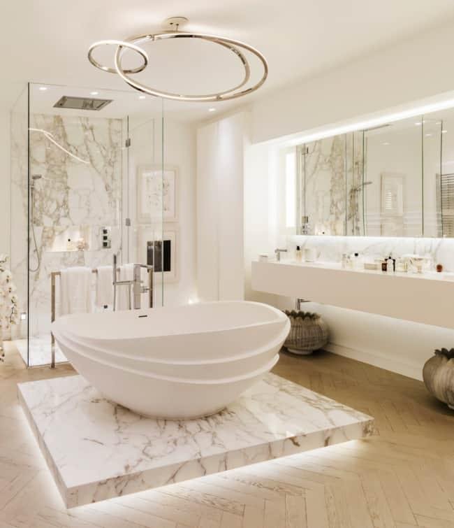 Lustres para banheiros luxuosos modernos