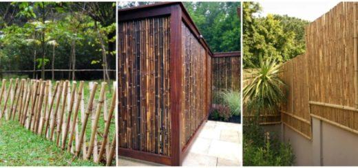 Modelos de cercas de bambu 1