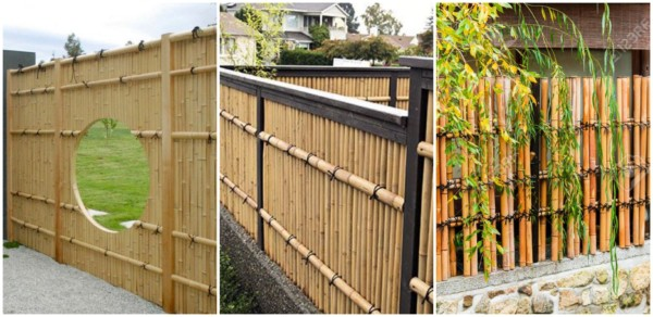 Modelos de cercas de bambu 2