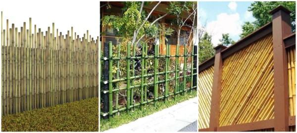 Modelos de cercas de bambu