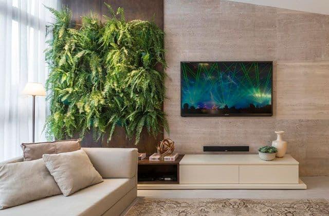 Painel de TV de mármore travertino
