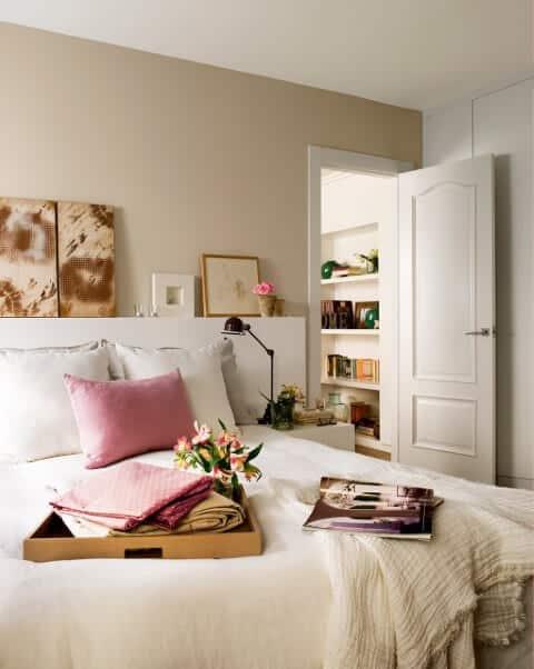 Parede pérola para quarto de casal