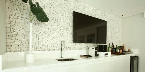 Pedra portuguesa na sala