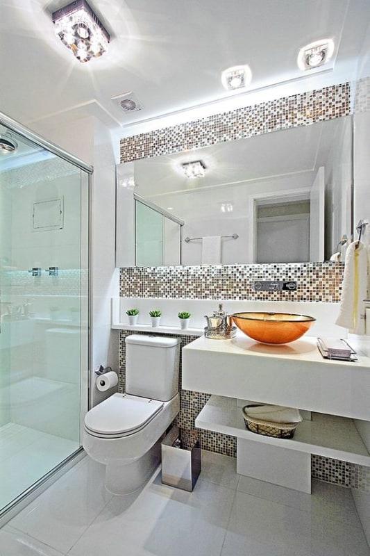 Plafon de cristal para banheiro clean