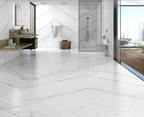 Porcelanato marmorizado branco