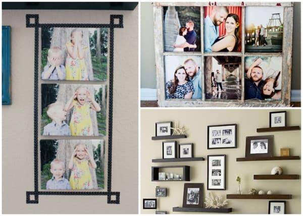 Quadros de fotos da família