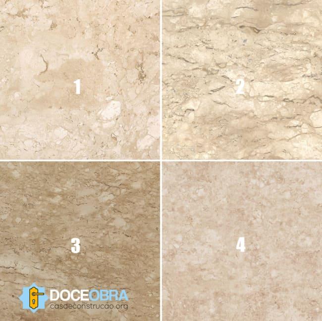 Tipos de mármore Travertino Nacional Bege Bahia