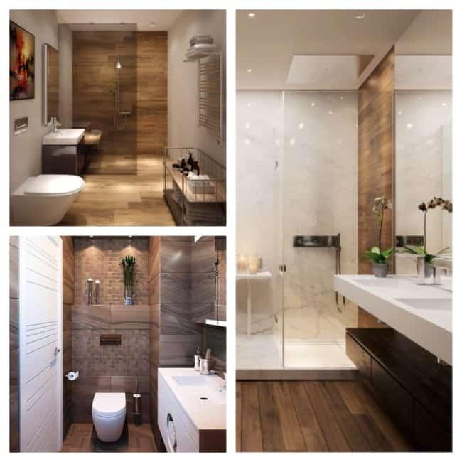 banheiro amadeirado moderno