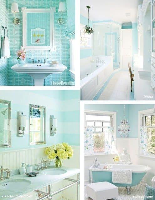 banheiro verde água 40