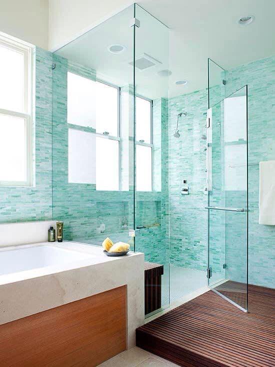 banheiro verde água 43