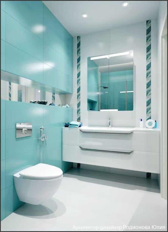 banheiro verde claro 37