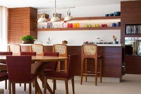 banquetas para cozinha de madeira