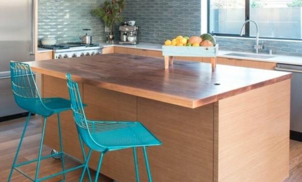 banquetas para cozinha azuis