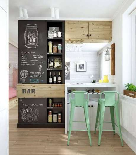 banquetas para cozinha verdes