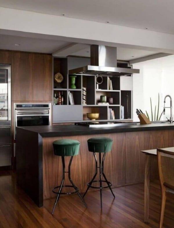 banquetas verdes para cozinha