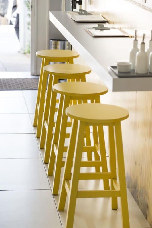 banquetas para cozinha amarelas