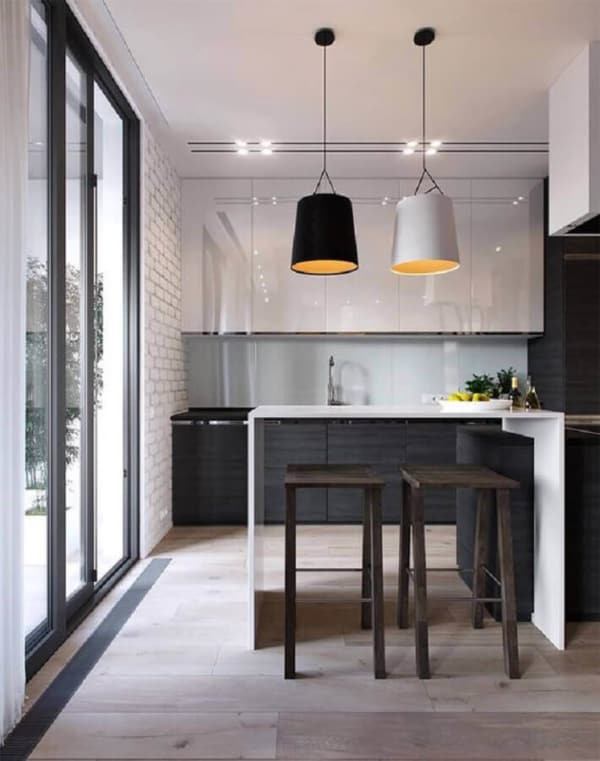 banquetas para cozinha minimalista
