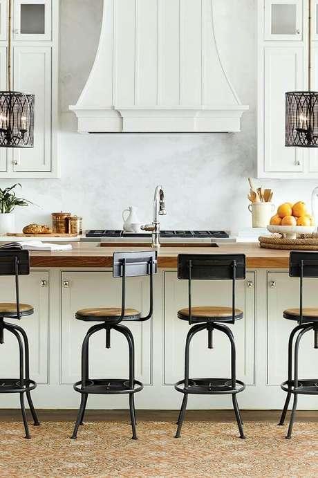 banquetas para cozinha com design moderno