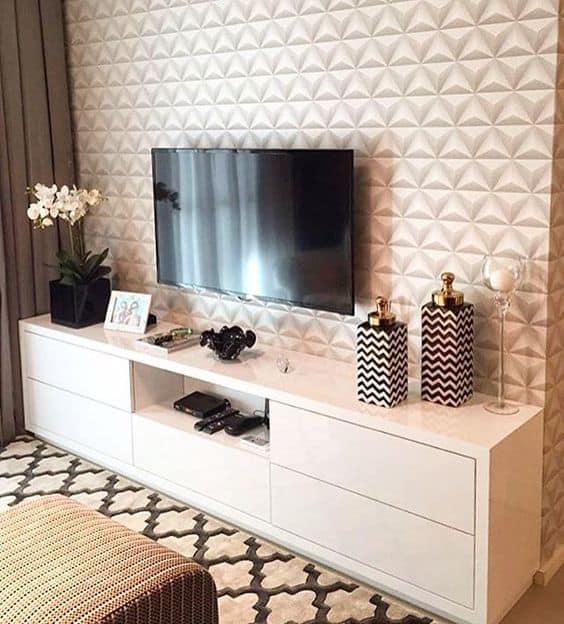 ceramica em relevo para sala de tv