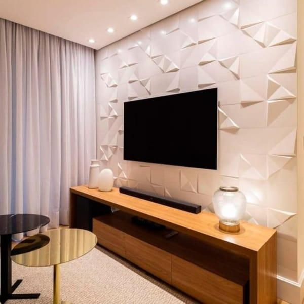 ceramica para sala de TV moderna