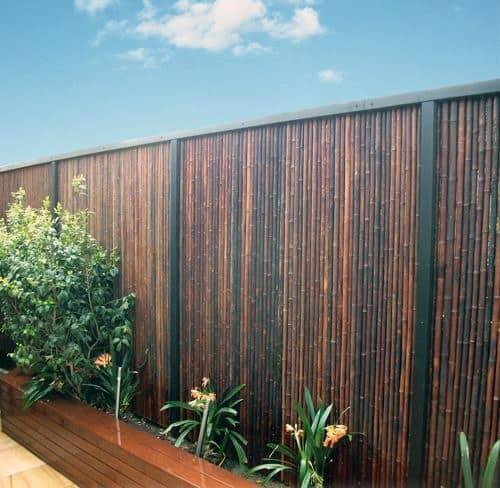 cerca de bambu para jardim