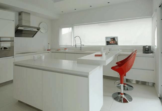 cozinha com porcelanato