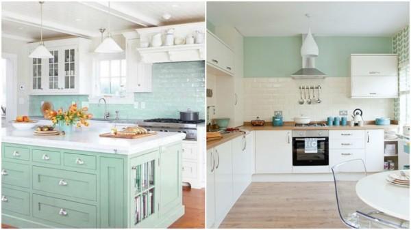 cozinha verde água 19