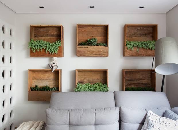 ideias de nicho de madeira de demolição