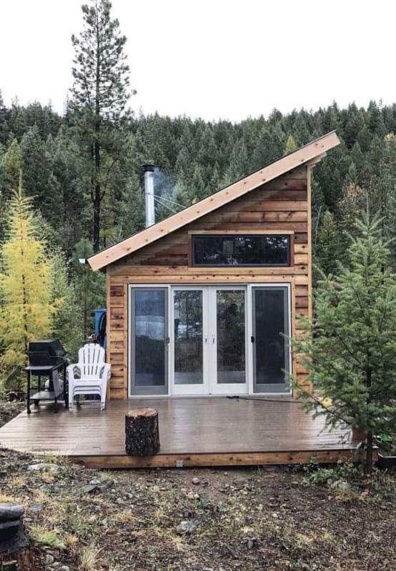 mini casa de madeira