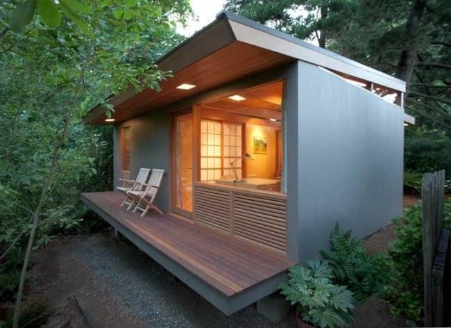 mini casa moderna afastada