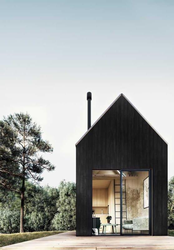 mini casa moderna compacta