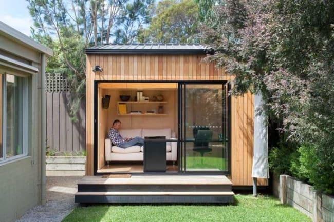 mini casa moderna para trabalhar