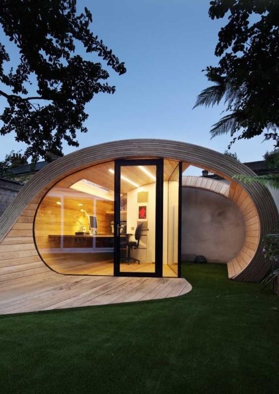 mini casa moderna redonda