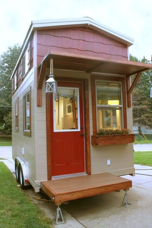 mini casa sobre rodas clássica