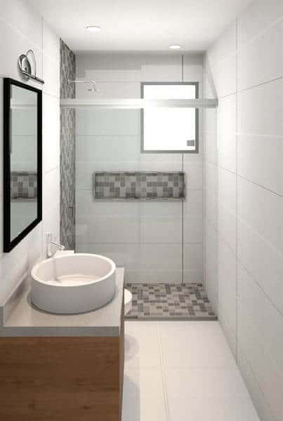 porcelanato branco acetinado para banheiro