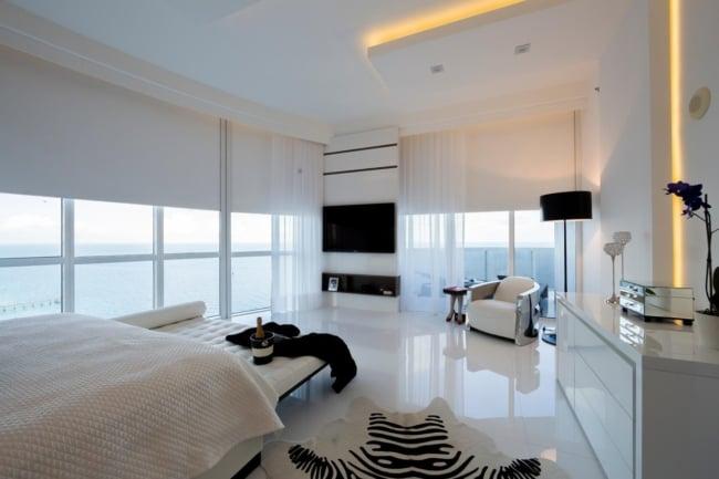 porcelanato branco brilhante para quarto