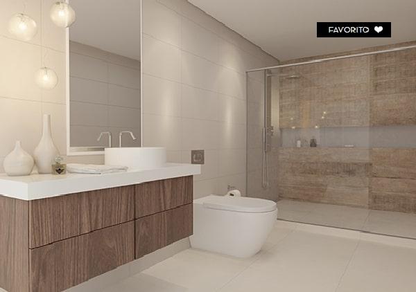 porcelanato branco para banheiro grande