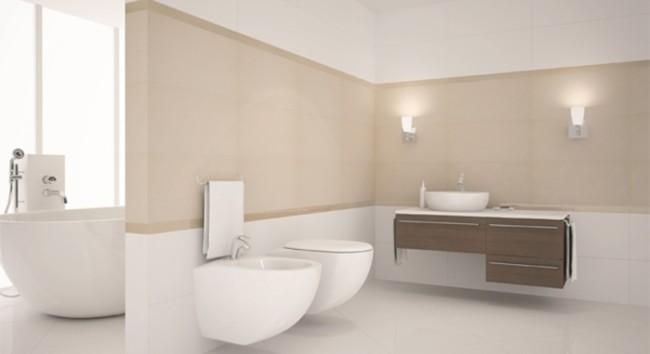 porcelanato branco para banheiro moderno