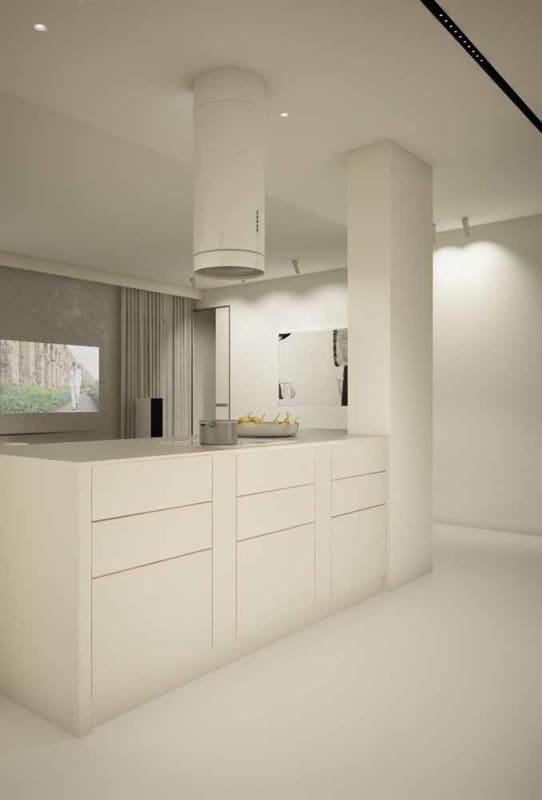 porcelanato branco para cozinha contemporanea