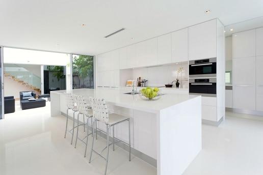porcelanato branco para cozinha grande